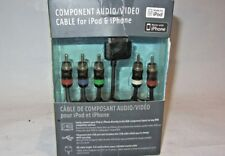 NEW Scosche IPAVRGB Component Audio/Video Cable for iPod & iPhone
