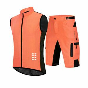 Cycling Sleeveless Vest Shorts Set MTB Bike Wear Ciclismo Breatheable Uniforms