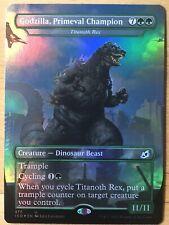 FOIL Godzilla, Primeval Champion English Ikoria IKO Titanoth Rex mtg NM