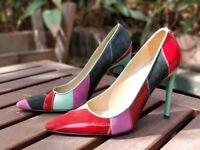 DOLCE & GABBANA, Patchwork leather heels US Size 6 - Authentic brand in EUC