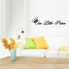 """Our Little Prince"" Crown Wall Sticker Baby Boy Nursery Bedroom Art Decal DIY"