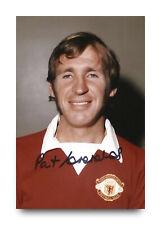 Pat Crerand Hand Signed 6x4 Photo Manchester United Autograph Memorabilia + COA