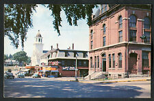 Dated 1963: View of Shopfront & Cars, The Square, Milford, New Hampshire, USA