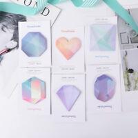 Diamond Notebook Memo Pad Self-Adhesive Sticky Office School Supplies Memo SP