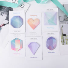 Diamond Notebook Memo Pad Self-Adhesive Sticky Office School Supplies Memo Pad