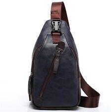 FREEMASTER Sling Pack Shoulder Backpack Mens Shoulder Bag Small PU Lether bag