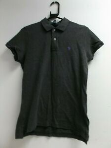 Ralph Lauren Men's The Skinny Polo Grey Polo Shirt Size Large