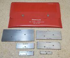 Starrett No 154 Adjustable Parallel Set 38 To 2 14 Set Of 6