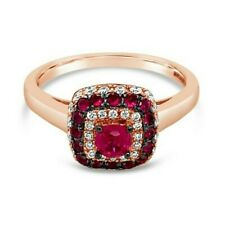 Le Vian chocolateros ® Anillo-Ruby, Vainilla/chocolate diamantes ® 14K Oro Rosa
