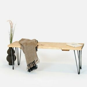 Bench Reclaimed Rustic Scaffold Wood [With Hairpin Legs] by Sustain Furniture