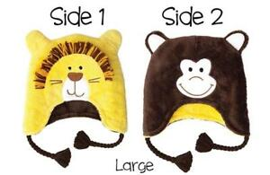 FlapJackKids Lion/Monkey reversable hat age 3 - 8 years