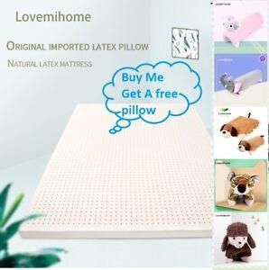 Natural Latex Comfortable Mattress Topper Healthy Sleep150x200x5cm FREE PILLOW