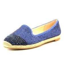 Zapatos planos de mujer de color principal azul de lona