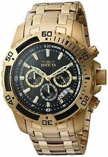 Invicta Mens Pro Diver Quartz Watch W/ Stainless-Steel Strap, Gold, 25.5 (Model: