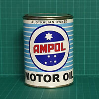 VINTAGE REPLICA AMPOL MOTOR OIL TIN CAN REPRODUCTION TIN CANS DISPLAY PROPS