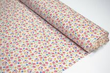 """Quilt Fabric Tri-Color Flowers Print By Yard Craft Apparel Upholstery 45"""" W #129"""