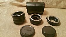 Authentic Vivitar AT-22, 3 Section Automatic Extension tube.36mm,20mm,12mm,Japan