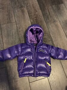 Patagonia Baby Down Sweater Hoody Jacket Purple 3-6 Months