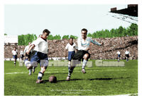 Football Art Print - LILLE V RACING CLUB OF PARIS, 1949 FRENCH CUP FINAL