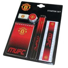 Manchester United Fc Man Utd 7 Piece Stationery Gift Set Pencils Notepad Rubber
