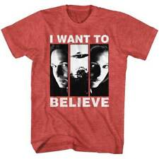 The X Files Science Fiction Tv Mulder & Scully I Want To Believe Adult T Shirt