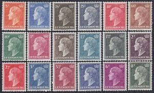 Luxembourg 1948/1951 Charlotte, Grand Duchess of Luxembourg, MNH