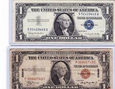 1935A $1 Dollar Hawaii Silver Certificate & 1957B $1 silver certificate lot 1 ea