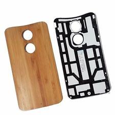 Teak Wood Original Battery Back Cover For Motorola X (2nd Gen)