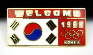 Vintage Olympic Pin Welcome to Seoul 1988 Korean Olympics