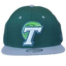 NCAA Zephyr Tulane Green Wave Two Tone Flat Bill Snapback Men Adjustable Hat Cap