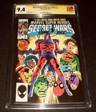 Marvel Super-Heroes Secret Wars #2 CGC SS 9.4 Signed by Mike Zeck