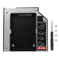 12.7mm SATA to SATA 2nd HDD HD HARD DRIVE Universal Caddy CD/DVD-ROM Optical Bay