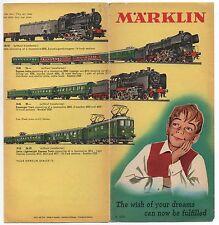 1957 Marklin Toy Trains Advertising Brochure