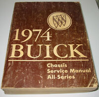 Service Manual Buick All Series Apollo Century Regal Electra Limited Riviera `74