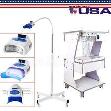 3shelves Mobile Dental Trolleytool Cart Auto Water Supply Teeth Whitening Lamp