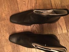 New Men's Real Leather Black Boots