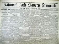 1868 Anti-Slavery newspaper wEarly Report KU KLUX KLAN attacking Negro TENNESSEE