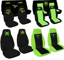 CC  CAR SEAT COVERS  JEEP  WRANGLER YJ or TJ black-pink-orange W JEEP
