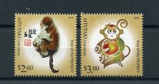 Aitutaki Cook Isl 2016 MNH Year of Monkey 2v Set Chinese Lunar New Year Stamps