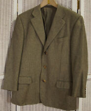 "ERMENEGILDO ZEGNA Pure Cashmere Men's Jacket 44"" Chest Tweed Blazer Sports Coat"
