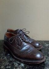 J. Crew Ludlow Mens 8.5 D Mahogany Brown Leather Wingtips Oxfords Dress Shoes j