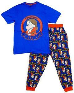 Mens Official Disney Mr Sometimes Grumpy T-Shirt Top Pyjamas S M L XL