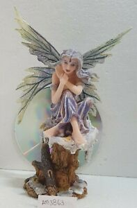 BEAUTIFUL WINTER FAIRY PERCHED ON SNOW COVERED ROCK Gothic Fantasy