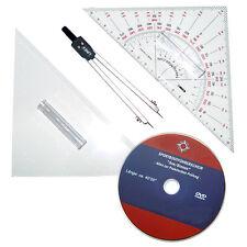 Navigationsbesteck & DVD 'Praktische Prüfung' # SBF Prüfung Zirkel Dreieck Boot
