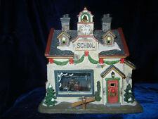 Norman Rockwell * School House * Happy Birthday Miss Jones Christmas House