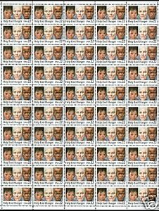 US 2164 Help End Hunger sheet of 50 MNH P#  A11111 Upper Right