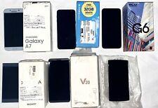 *LOT OF 6* Android Smartphones Unlocked Samsung Galaxy A7 J6 LG G4 V20 Sony 64GB