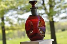 Qt. Pinch Decanter Ruby Red  (w/stopper)
