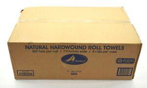 Harbor Natural Hardwound Roll Towels 6 Roll Case Pack 800' Ea H1800N Commercial
