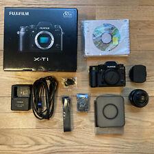 Fujifilm X-T1 16.3MP Digital SLR Camera Black Body with 18mm pancake lens
